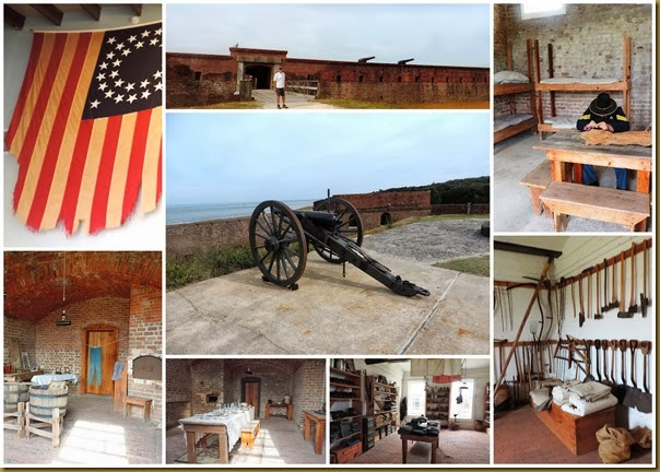 fort clinch collage