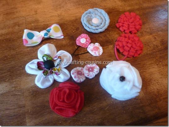 Crafty Cousins' tutorial for yo yo flower bobby pins (31)