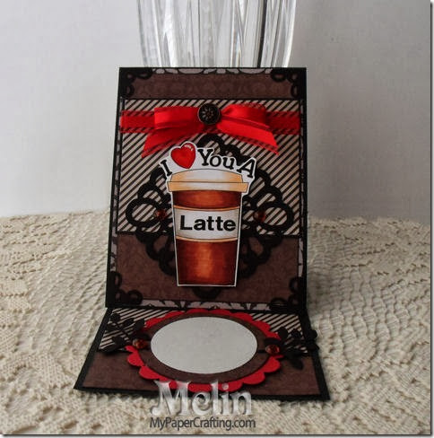 love you a latte card easel-450