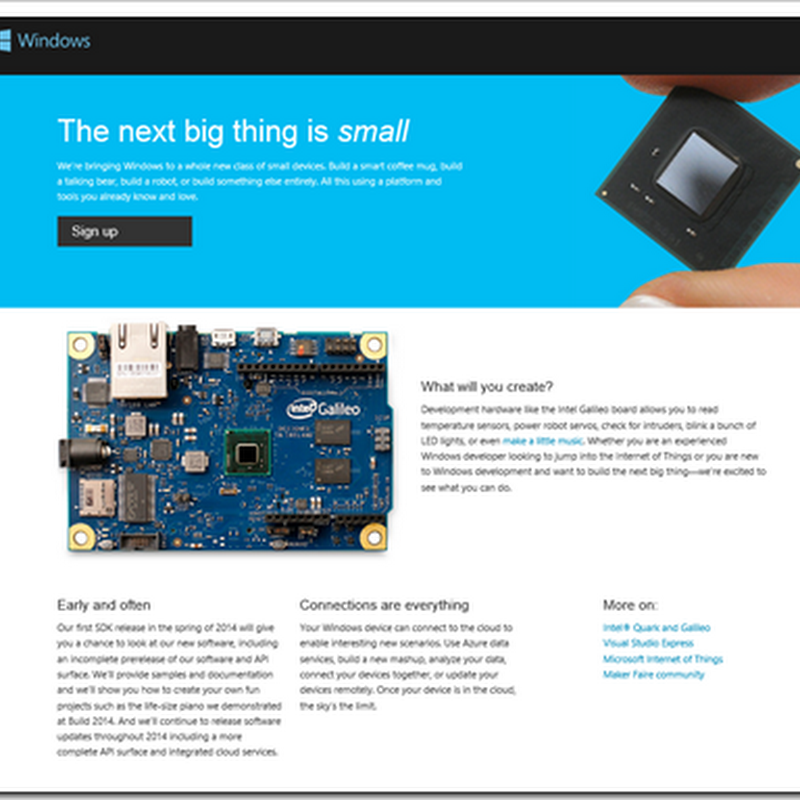 "Sign up for the ""Windows Developer Program for IoT"""