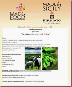 13 novembre Firriato al Mad in Food