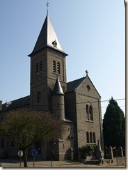 Lijsem (Lincent), rue de l'Ecole: kerk uit 1905