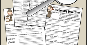 dictionary detective worksheets for kids. Black Bedroom Furniture Sets. Home Design Ideas