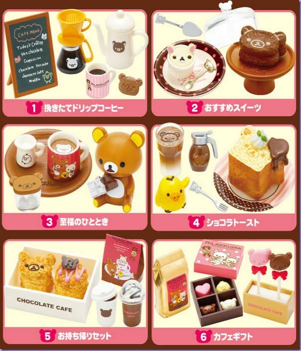 Rilakkuma-Chocolate-Café-Miniaturas-Sets