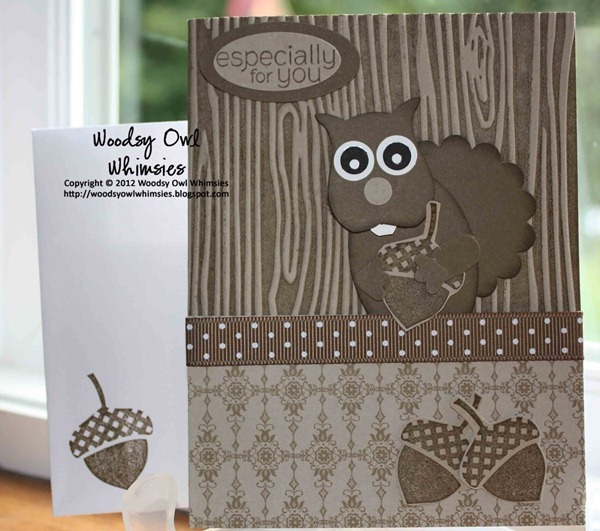 Woodsy Owl Whimsies Punch Art Squirrel