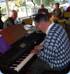 Roy Steen playing the Club's Clavinova