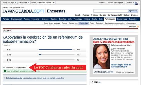 enquèsta de La Vanguardia pr Internet