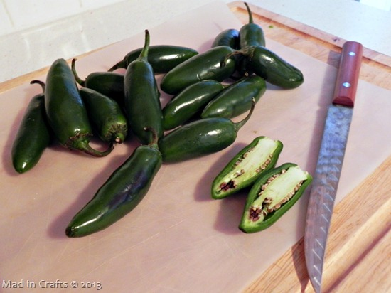 halve the jalapenos