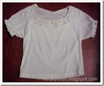 T-shirt with Lace and Cris-cross Straps