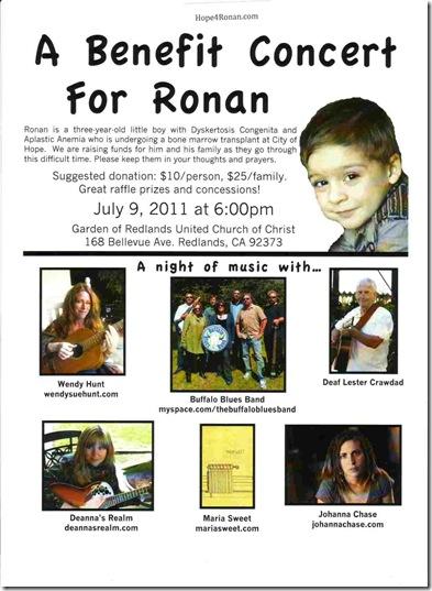 RUCC concert fund raiser