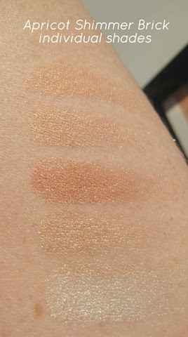 Bobbi-Brown-Apricot-Shimmer-Brick-Nectar Nude-swatches