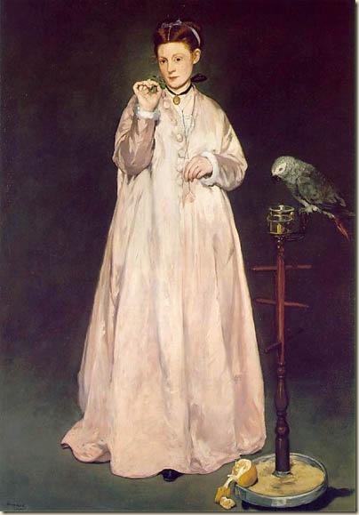 Manet, Jeune femme au perroquet