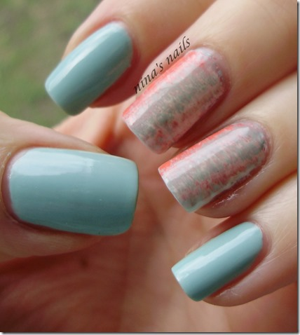 Essence that's what i mint   fan brush nail art.JPG 4