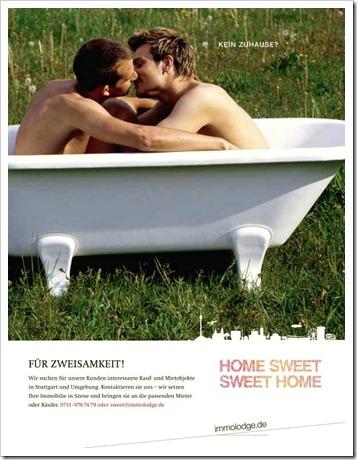 Immoblienwerbung für schwule Schwaben