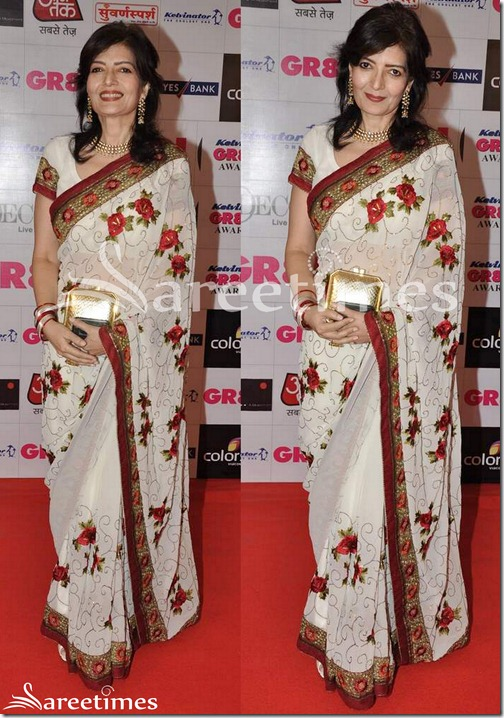 White_Embellished_Saree