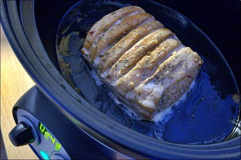 Liten kotlettrad i Crock-Pot
