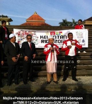 Gambar TG Nik Aziz Semasa Pelepasan Kelantan Ride Sempena Tahun Melawat Kelantan