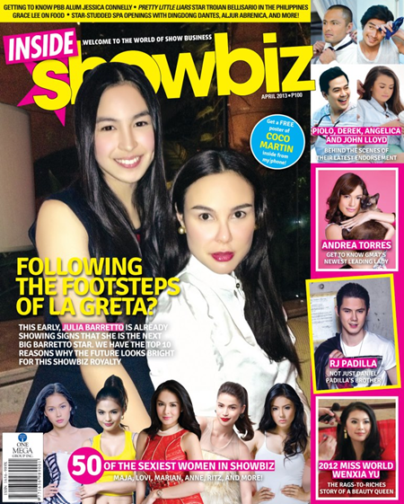Julia and Gretchen Barretto on Inside Showbiz Apr 2013