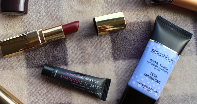 Bobbi-Brown-Bordeaux-lipstick,Smashbox-Pore-Minimizing-Photo-Finish-Primer