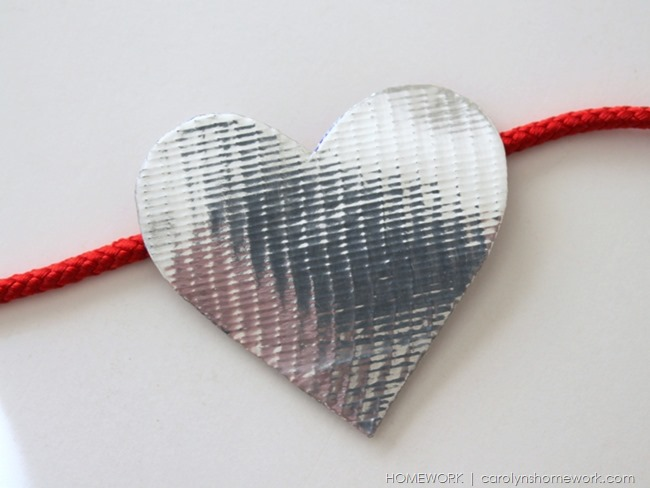 Valentine Heart Garland with Duck Tape via homework | carolynshomework.com