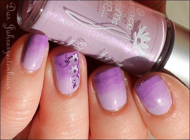 Flieder Blume Nageldesign 9