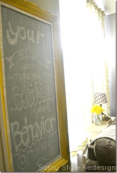 cece caldwell chalkboard side view