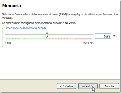 VirtualBox Memoria