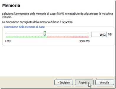 VirtualBox Memoria