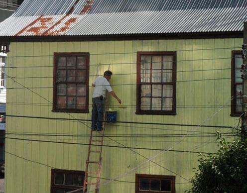 Invenção Perigosa - Trabalhando com escada - Profissão perigo - muito arriscado 09