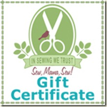 sewmamasew 2012 gift cert $20 value