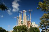 La Sagrada Familia (en travaux... depuis 128 ans !)