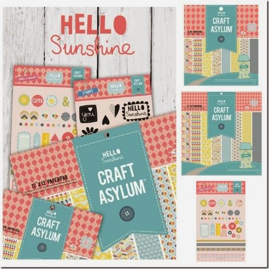 Craft Asylum - Hello Sunshine - scrapbooking