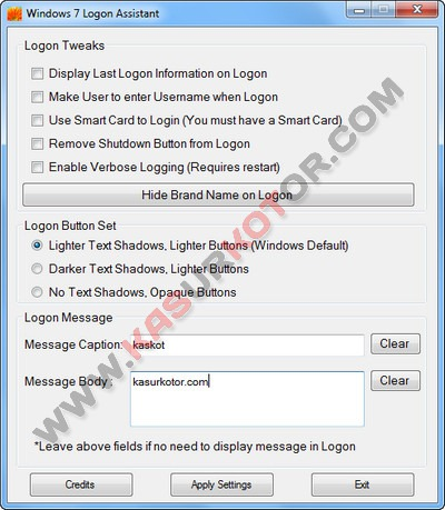 Mengganti Tampilan Logon Screen Windows 7 - Windows 7 Logon Assistant