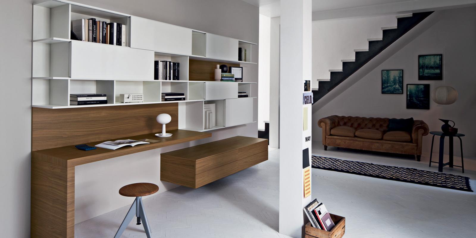 Soggiorno lampo collezione la casa moderna l2 27 noce e for Soggiorno moderno bianco