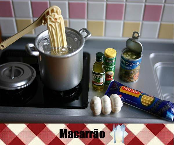 Re-Ment-Macarro-Spaghetti-Cozinhando