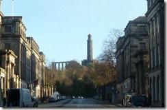calton hill from Waterloo Place