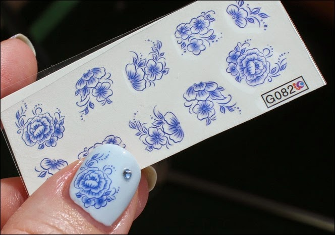 Blue Friday Flowers Blaue Blümchen Mottomonat Blütenzauber Nail Art Nageldesign Water Decals 04