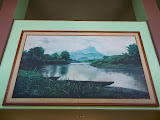 A painting of Bukit Jempol (Bukit Serelo) at the Hotel Bukit Serelo in Lahat (Dan Quinn, November 2013)