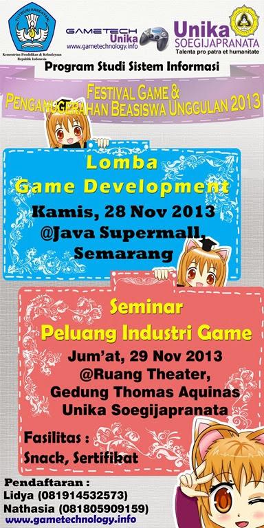 Festival Game 2013 & Anugerah Beasiswa Unggulan BPKLN Kementrian Pendidikan dan Kebudayaan (28-29 November 2013)