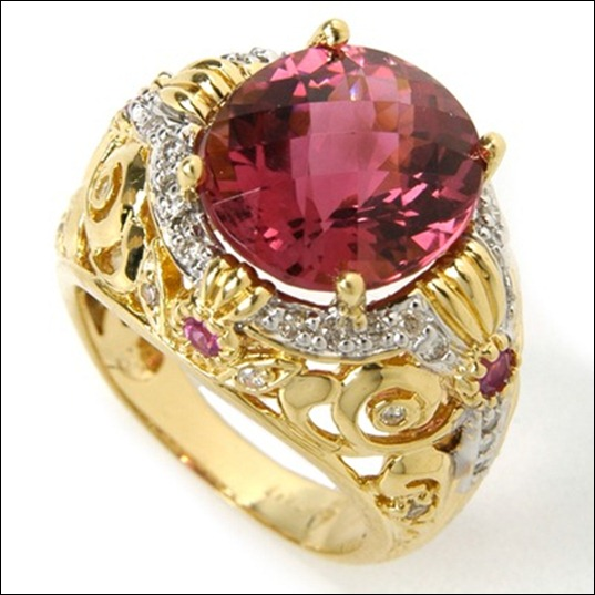 14K_Tourmaline__Pink_Sapphire_and_Diamond_Ring