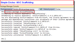 Simple Circles - MVC Scaffolding