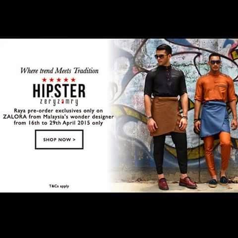 Hipster Baju Melayu, Zalora.com