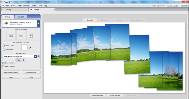 Manipulating the Overlapping Photos  in the Picture Pile