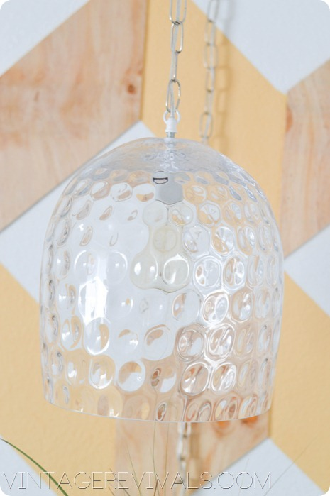 DIY Hanging Light Fixture out of vase vintagerevivals.com