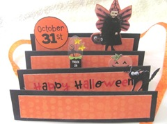 Halloween accordian fold card open