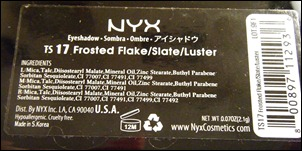 NYX Frosted Flakes