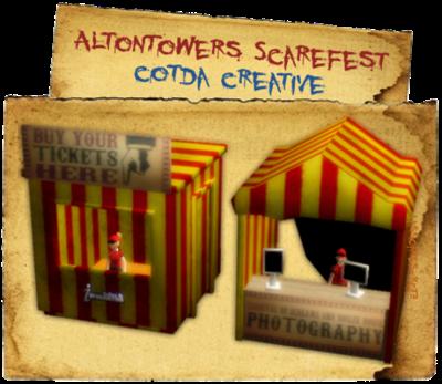 AltonTowers ScareFest Stalls (cotda creative) lassoares-rct3