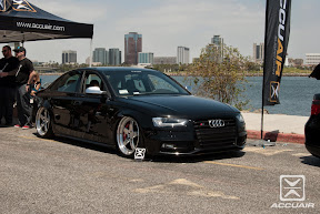 TAG Motorsport's Audi S4 on AccuAir's first full kit sitting on ADV1s