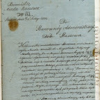 Burmistrz miasta Staszowa do administracji dóbr w sprawie ustalania  pobierania osepu 1853.jpg