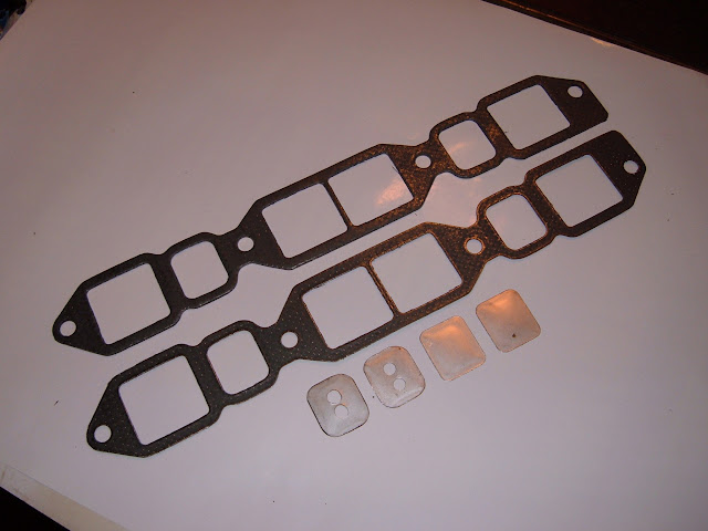 Hi Performance intake gaskets, best for aluminum intakes on 364-401-425. Restrict or plug exhaust heat to intake. 10 HP 22.00